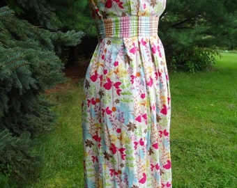 Bright Flowered Cotton Dress