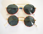 Vintage 80s 90s Polaroid Kids Sunglasses, Flat Top Eyewear, Round Sunglasses