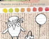 Magnolia - quirky bird digi stamp set - 3 images