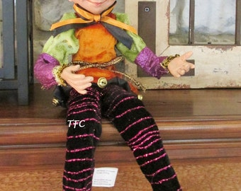 Halloween Elf~Raz~Decoration~for Wreaths and Swags