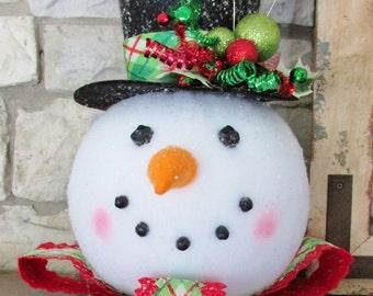 Raz Christmas Snowman Head for Holiday Decorating