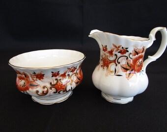 Royal Albert Keepsake Series English Bone China Sugar & Creamer Set