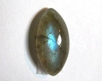 18X9 mm Labradorite Cabochon ~ Marquise Cut Cabochon ~ Natural Stone with Brilliant Blue Flash