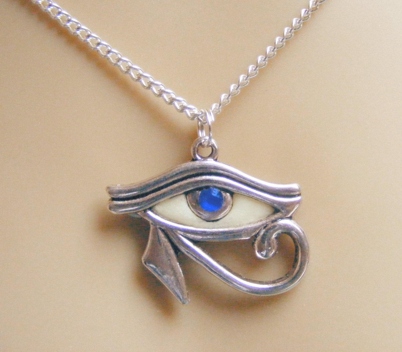 eye of horus pendant eye of horus necklace glow in the