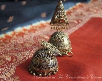 Dokra Wirework Traditional Jhumka