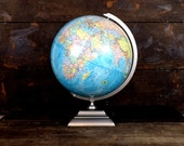 Vintage Geirge F. Crams 12 inch world globe/rustic/old world office/school room/library globe