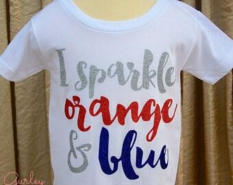 Gators Football I Sparkle Orange and Blue Gameday Tshirt