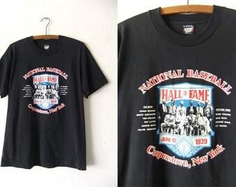 Baseball Hall of Fame Vintage Tee - 80s MLB Greats Throwback Screen Stars Best T Shirt