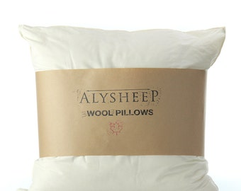 Euro Pillow Filled with Organic Wool