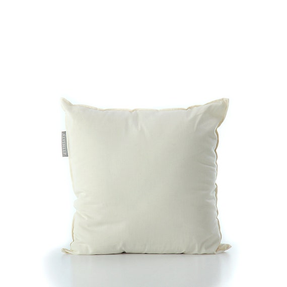 Throw Pillow Insert : Throw Pillow Insert filled with Organic Wool Wool Throw