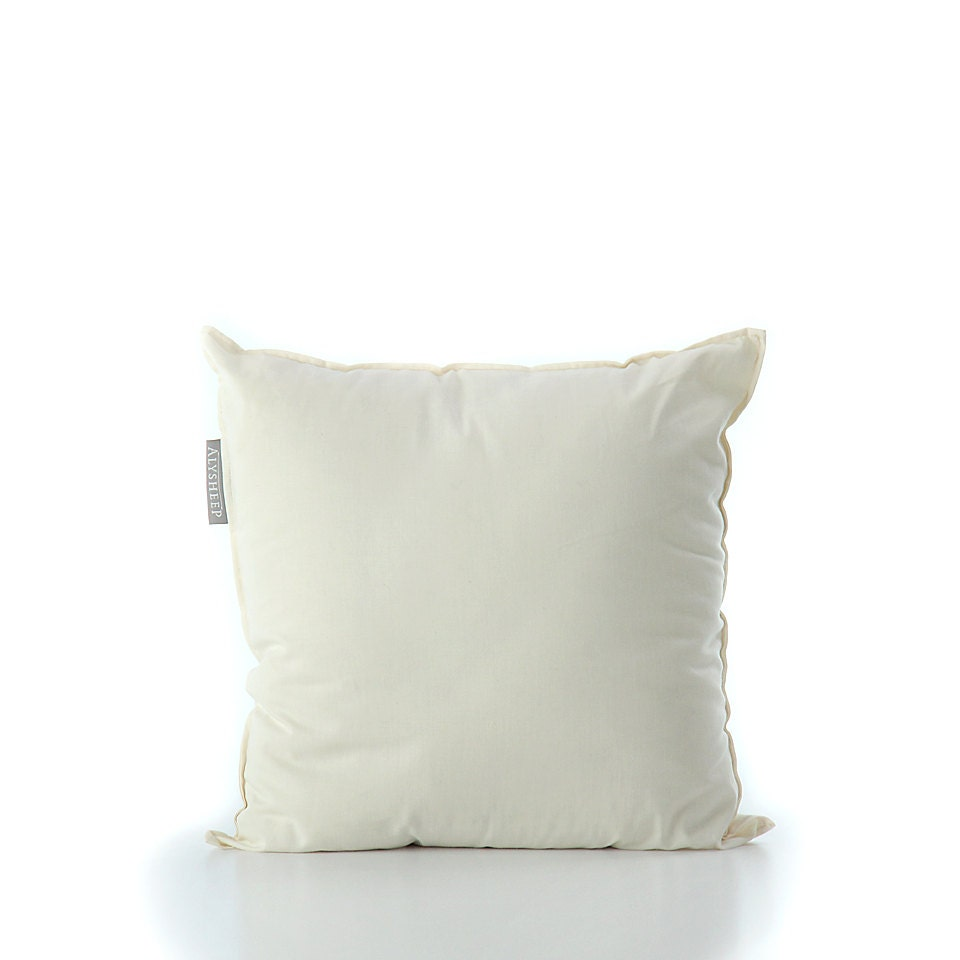 Pillow Inserts For Throw Pillows : Throw Pillow Insert filled with Organic Wool Wool Throw