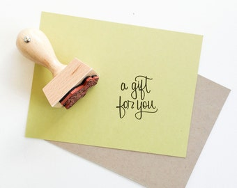 Mini Rubber Stamp Petite Thank You Hand Lettered By Papersushi