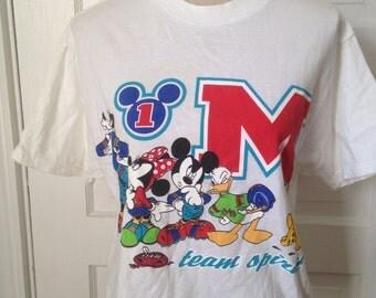 Vintage DISNEY Mickey Mouse Crop Tshirt