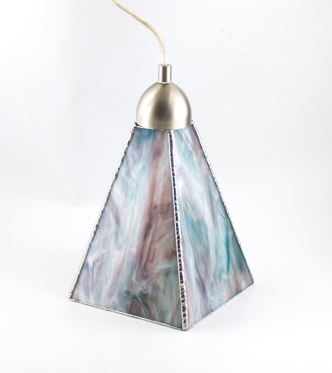 Stained Glass Pendant Lighting Ceiling Fixture Glass Shade