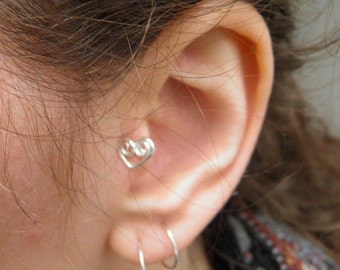 "Ear Cuff... ""Steele heart"" ear cuff or tragus ear cuff."