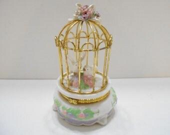 Caged Love Birds Ring Holder