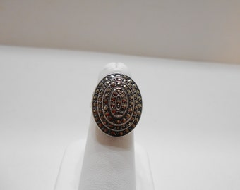 Vintage Art Deco, Sterling Marcasite Ring (181) Size 7.5