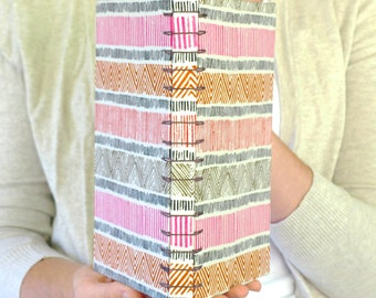 Stripe-Tease Multicolor Sketchbook or Journal with Spine