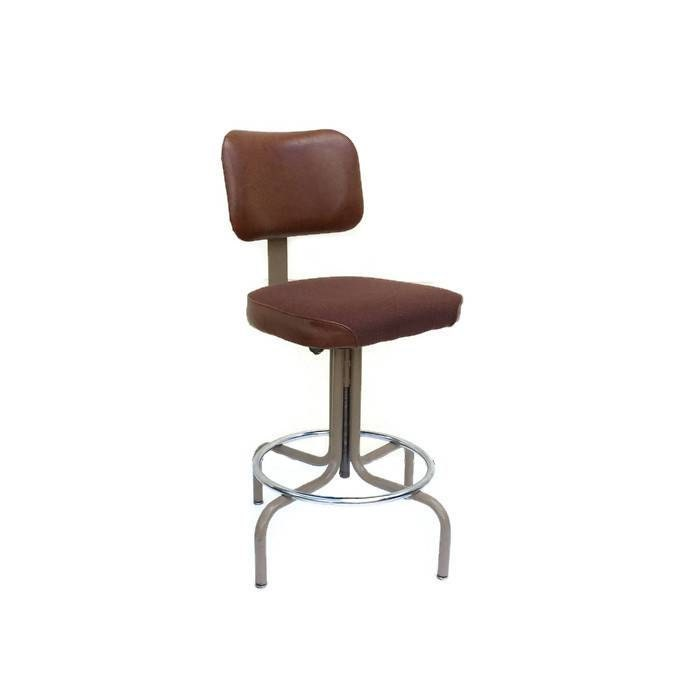 Vintage united chair drafting stool with by alegriacollection