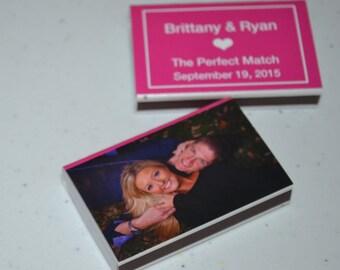 100 Photograph Matchbox Wedding Favors