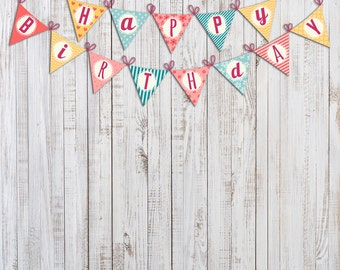 Vinyl Photography  Backdrop Photo Prop - Happy Birthday Girl