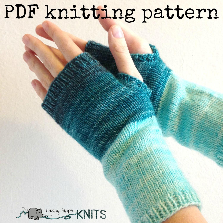 PDF Knitting pattern wool fingerless gloves instant