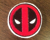 Deadpool Logo - Iron-on Embroidered Marvel Patch