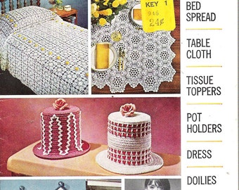 Vintage 1960's American Thread Star Book No 190 Crochet Pattern Booklet