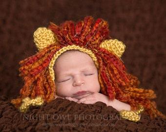 Lion Hat, Crochet Lion Hat, Lion Bonnet, Lion Costume, Lion Outfit, Lion Photo Prop, Crochet Lion, Crochet Hat, Beanie