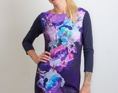 Crystal dragonfly - Dress / Printed dress / Bright womens dress