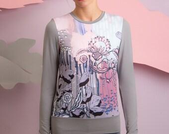 Pearls garden - Sweatshirt / Viscose sweatshirt