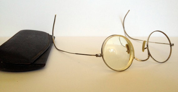 antique glasses gold tone eyeglasses with