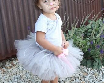 MOUSE COSTUME, Gray Mouse Costume, Animal Costume, Tutu Skirt with Ears Headband, sizes Newborn-5T