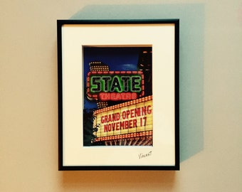 """State Theater, 3D, 5""""x7"""" in 8""""x10"""" Matted Frame"""