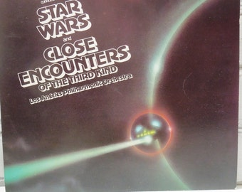Star Wars. Close Encounters. Zubin Mehta Conducts the LA Philharmonic Orchestra. In Very Good Condition. John Williams Soundtrack Music.