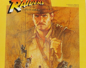 Raiders of the Lost Ark. The Original Motion Picture Soundtrack Album. Excellent Condition. Whip and Fedora Hat Sold Separately.