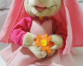 Disney Maid Marion Stuffed Toy. Robin Hood Animated Movie Character. Circa 1990's. Vintage Toys and Collectibles.