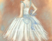 Art Print  Instant Download Original pastel drawing,Ballerina,8x10 inches.Wall Art,Home Decor.