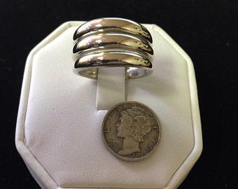 Vintage Modernist Sterling Silver Ring Signed .925 ESPO SIG Jospeh Esposito