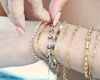 Evil Eye chain bracelet