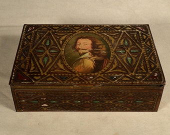 Van Dyck Tin Baroque Box Container Steampunk W & R Jacob