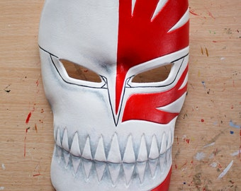 Full Ichigo Hollow leather mask - Made to Order
