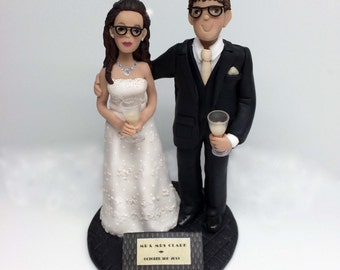 Custom Wedding Cake Topper * Bride and Groom Created from Your Ideas and Photos