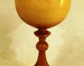 Lathe turned wood chalice