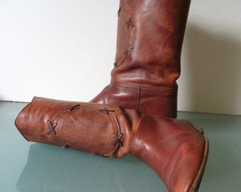 Vintage Made in Italy Marco Mancini Leather Boots Size 35.5EU