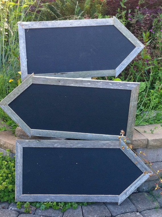 Set of Three (3) Double-sided Chalkboard Arrows with a mitered rear view, for Sales Promotion, Pointing to Specials,Daily Deal