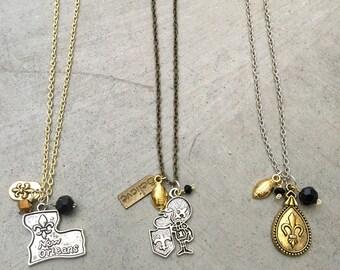 New Orleans Saints Charm Necklaces