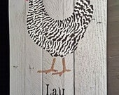 Wicked Chickens Lay Deviled Eggs-Reclaimed Wood Stenciled Sign