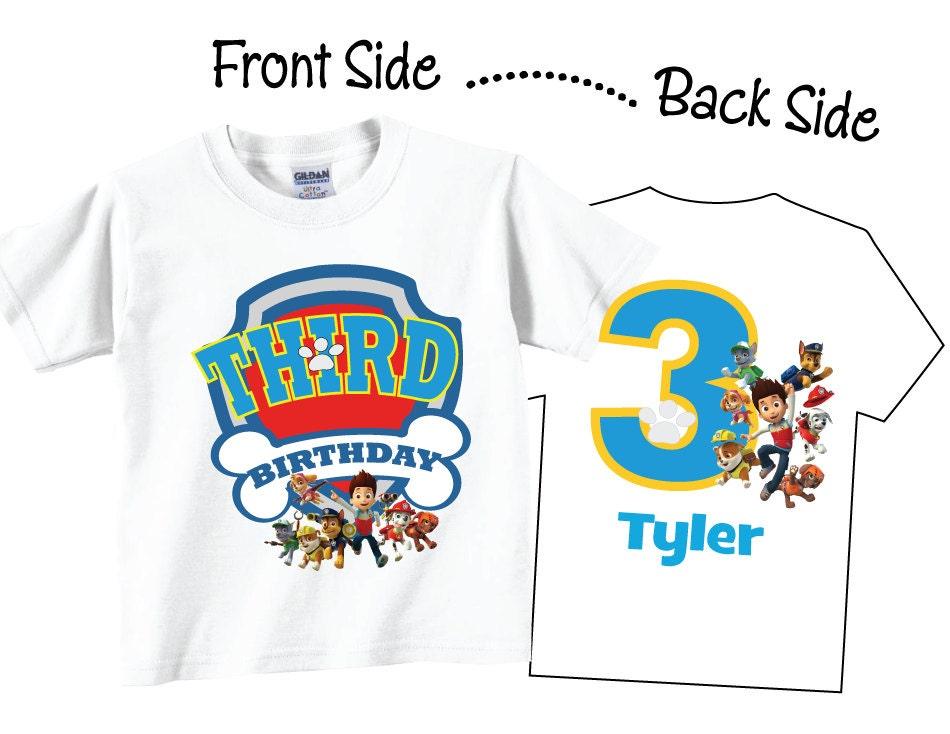 3rd Birthday Shirts for Boys Personalized Third Birthday