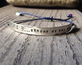 Personalized Bracelet | Id | Quote Bracetel| Customized | Sterling Silver, stamped, embossed